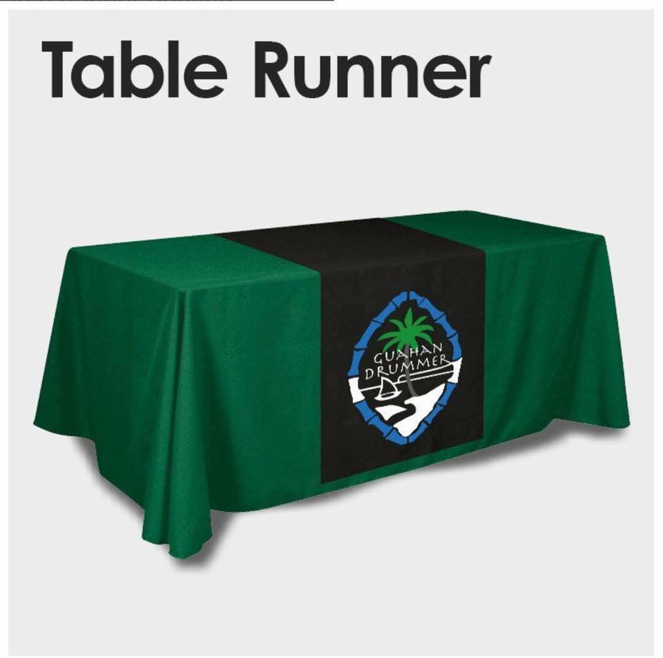Full Color Table Runner W Logo Table Cloth Not Included